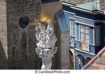 Statue on the Holy Trinity Column