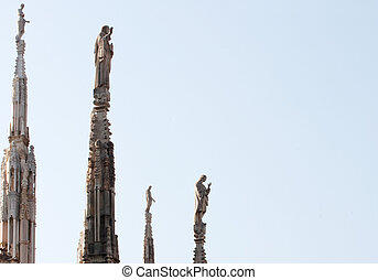 Statue on the spire, Milan cathedral
