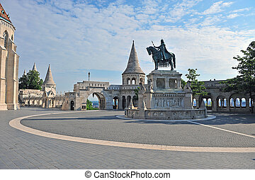 Statue on the square of Fisherman bastion