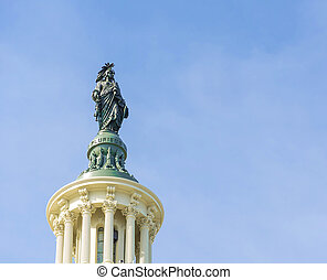 Statue on top of Capitol Building Washington DC