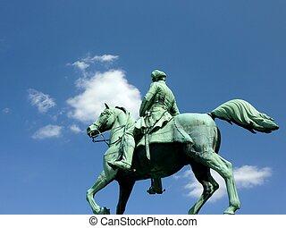 statue of horse rider in Brunswik