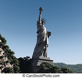 statue - three-dimensional, Statue of Liberty in the...