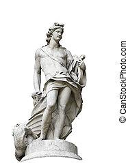 statue, von, a, mann