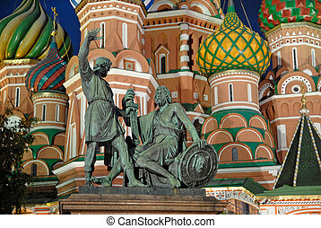 statue, von, kuzma, minin, und, dmitry, pozharsky, in, moskauer , russland