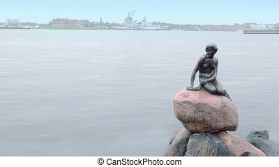 Statue which depict character from fairy tale Little Mermaid...