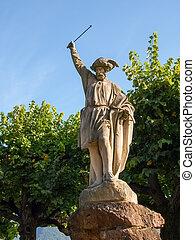 statue, william dit, lugano, switzerland.