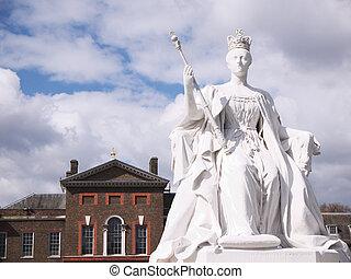statue, william, londres, kensington, iii, palais, devant