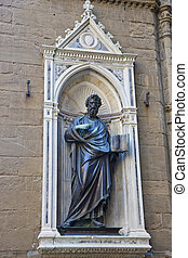 Statue with Book in Florence