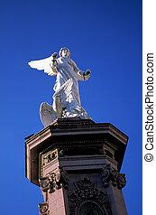 statue-, zacatecas, méxico