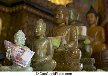 statuen, cambodscha, buddha, penh, wat, phnom