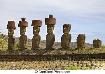 easter island - statues at easter island
