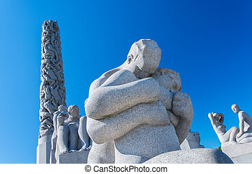 Statues at Frogner Park Oslo Norway