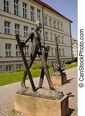 Statues at Kloster Unser Lieben Frauen in Magdeburg, Germany
