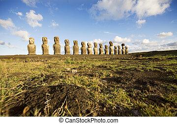 statues easter island