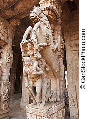 Statues in Hindu temple