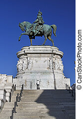 Statues in the Monument of Victor Emmanuel II