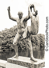 Statues in Vigeland park, Oslo
