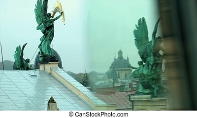 Statues of Angels on the Roof