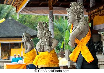 Statues of Balinese demon