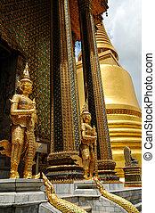 Bangkok Royal Palace - Statues of demons in Bangkok Royal...