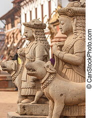 Statues of god in Bhaktapur,Nepal