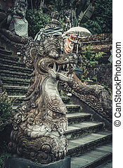 Statues of Hindu God or demon