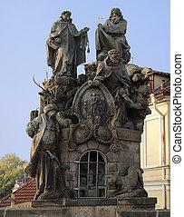 Statues of Saint John, Felix and Ivan - Statues of Saints...