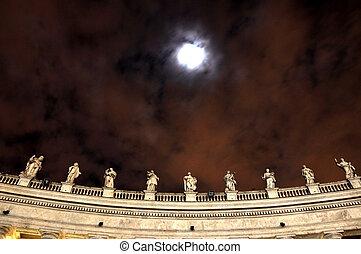 Statues of saints in San Pietro Square, Vatican