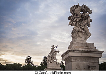 Statues of the monument Vittorio Emanuele II in Rome