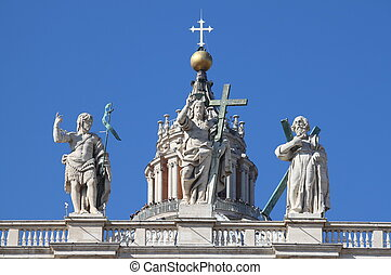 Statues of the saints in Vatican