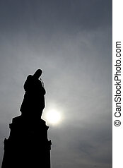 statues - staue silhouette in prague