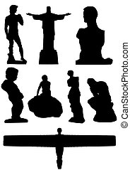 statues - Illustration of 8 famous statues of the world