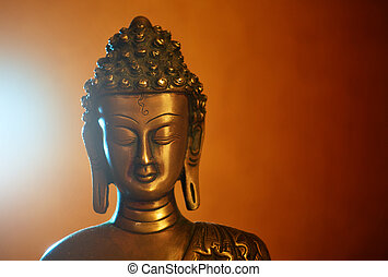 Statuette of Buddha - Copper statuette of Buddha, Buddha's...