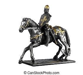 Statuette of El Cid - Figurine of Rodrigo Díaz de Vivar on a...