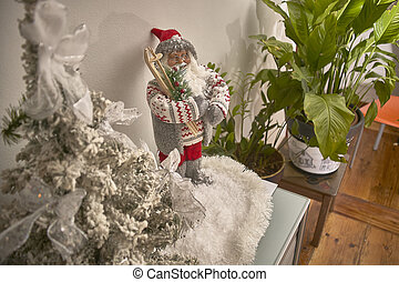 Statuette of Santa Claus.