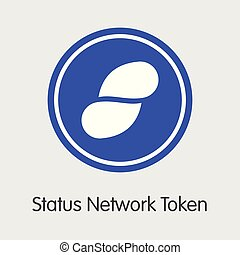 Status Network Token - Digital Currency Symbol.