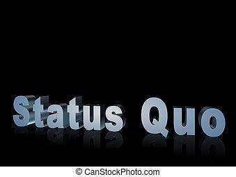 Status Quo 3d text -XXXL