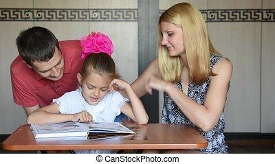 statut, école, fille, pape, first-grade, demandé