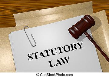 statutory, gesetz, begriff