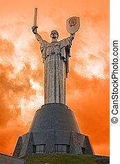 staty, av, den, motherland, kiev