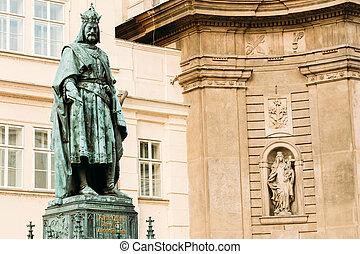staty, av, den, tjeck, kung, karl, iv, in, prag, tjeckisk republik