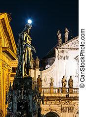 staty, av, tjeck, kung, karl, iv, in, prag, tjeckisk republik