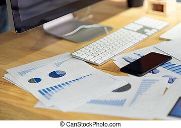 statystyka, finansowy, biuro, handlowy, wykresy, informuje, wykresy, dokumenty