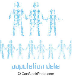 statystyka, rodzina, ludzie, cyfrowy, dane, ludność