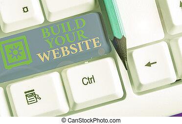 stavět, ecommerce, up, showing, website., pojmový, obchod, fotografie, sázení, text, tvůj, business., firma, systém
