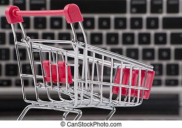 stav připojení shopping, concept.