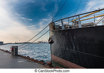 stavanger, historyczny, statek, 2