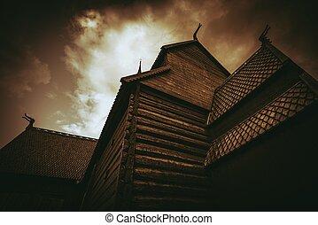 Stave Church Architecture - Lom Stave Church. Stave Church...