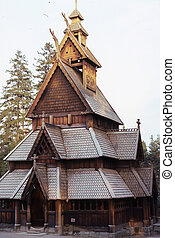 Stave church. - The stave church from Gol in Norway.