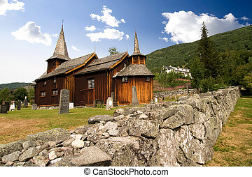 Stave Church - A stavechurch - stavkirke - in Norway located...